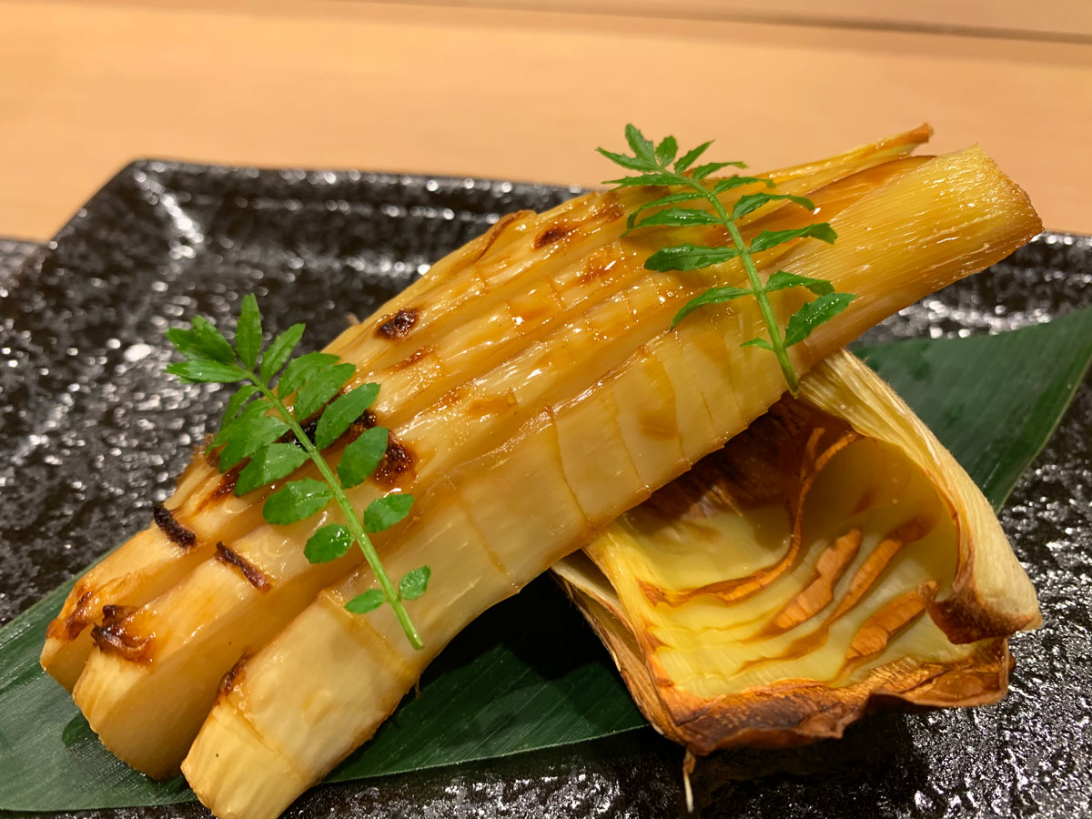 Grilled bamboo