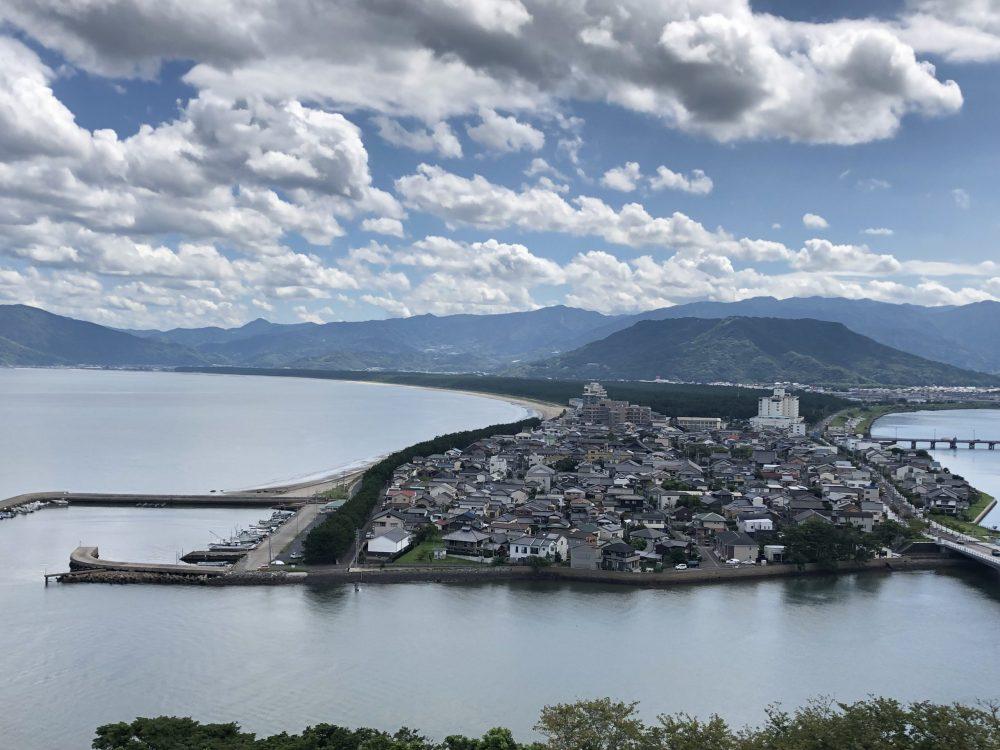 Vue du chateau de Karatsu, Saga