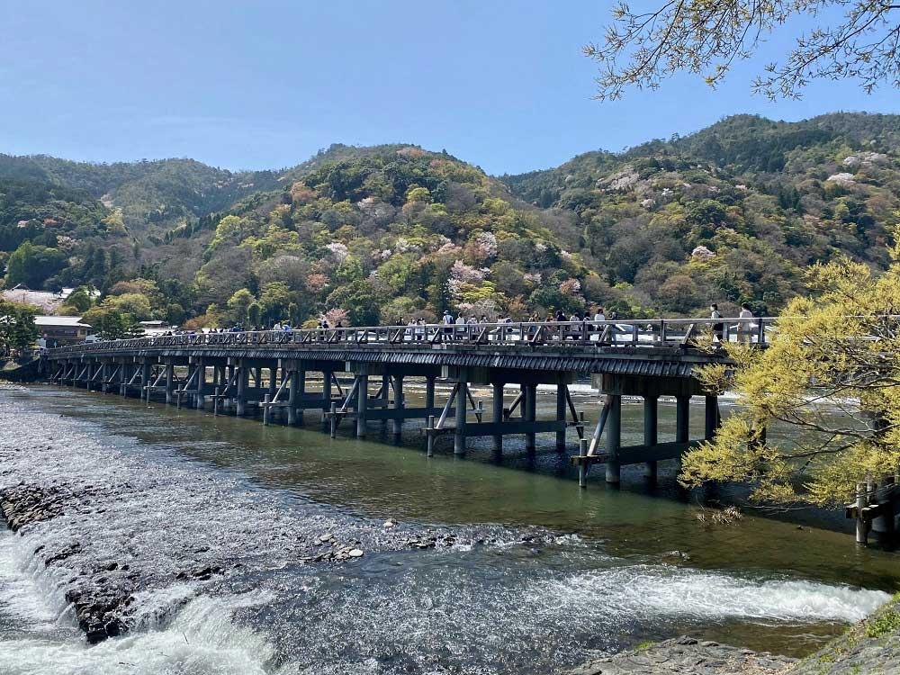 Le pont Togetsuyo à Arashiyama, Kyoto